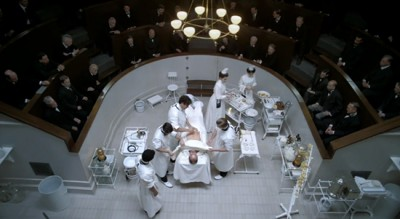 Overhead of Operating Theater for The Knick on Cinemax